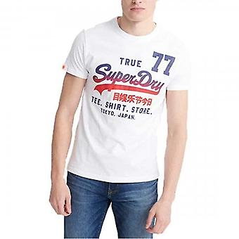 Superdry Shirt Shop 77 Logo T-Shirt White 01C