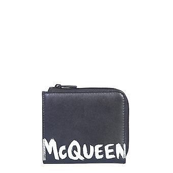 Alexander Mcqueen 5508251nt0b1070 Männer's Schwarze leder Brieftasche