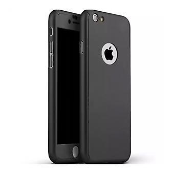 スタッフ認定® iPhone 8 Plusフルボディ360°フルカバーケース+ブラックスクリーンプロテクター