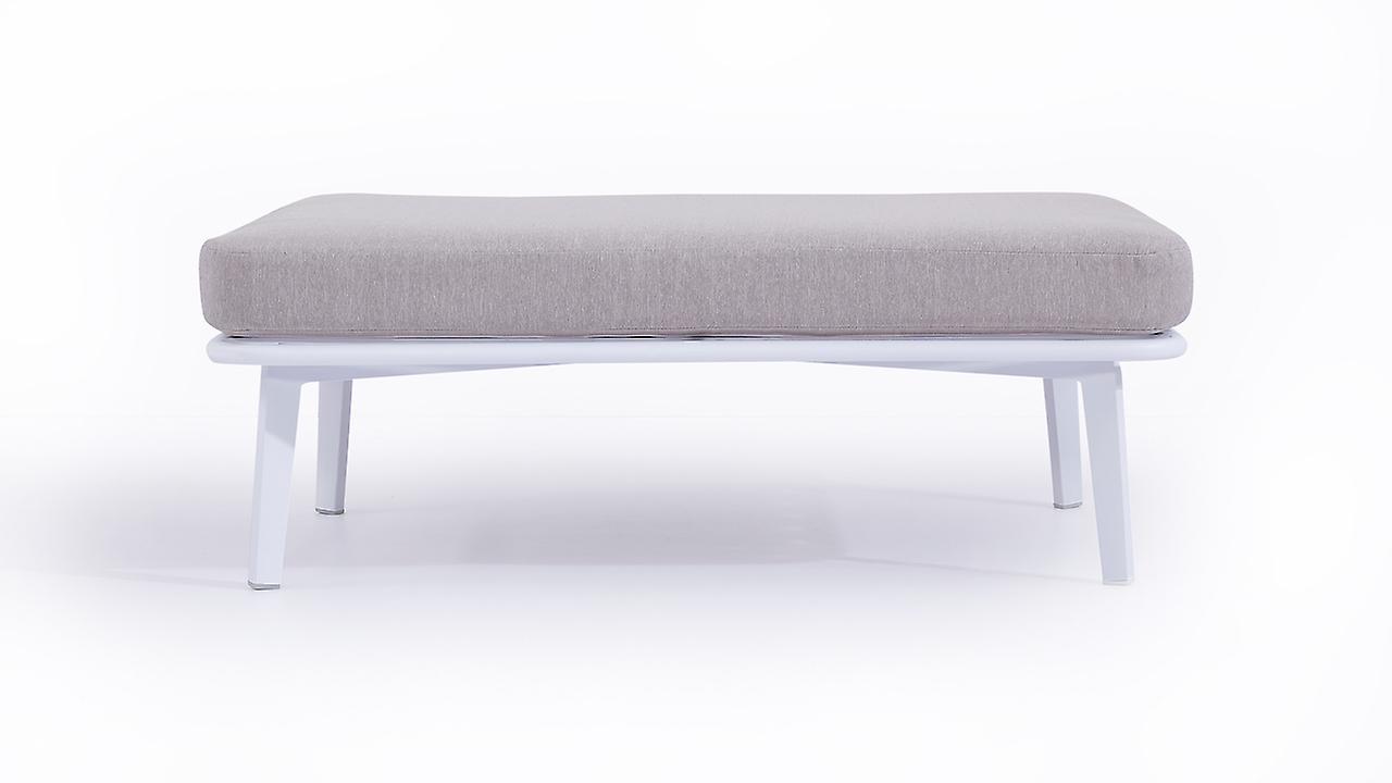 Alu Hocker Diva 118 cm - weiß