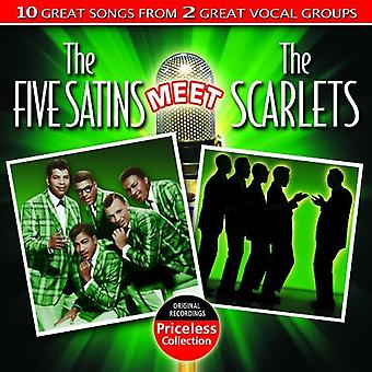Five Satins/Scarlets - Five Satins Meet the Scarlets [CD] USA import