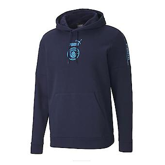 2020-2021 Manchester City Puma ftblCULTURE Hoody (Peacot)
