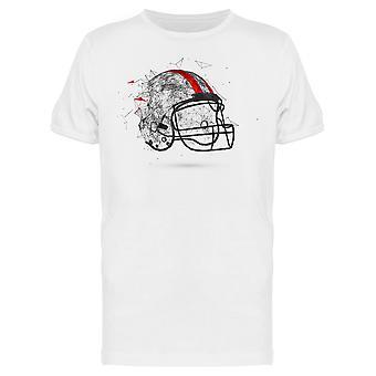 Football Helmet Graphic  Tee Men's -Image by Shutterstock