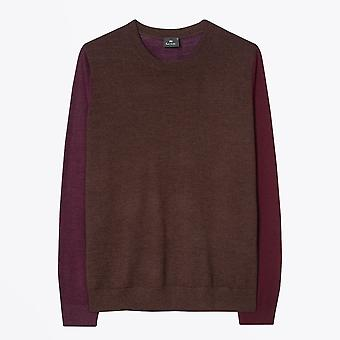 PS Paul Smith - Merino Uld Sweater - Bourgogne /Brown