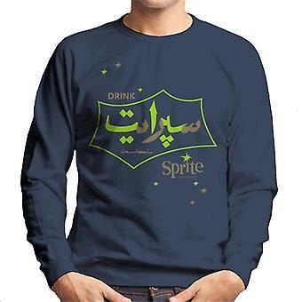 Drinken sprite retro Arabisch logo heren Sweatshirt