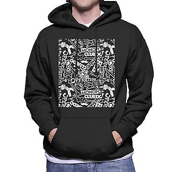Mixed Board Games Collection Montage Men's Hooded Sweatshirt