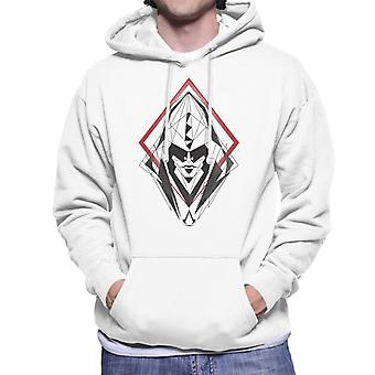 Assassins Creed Hood Line Drawing Silhouette Men's Hooded Sweatshirt