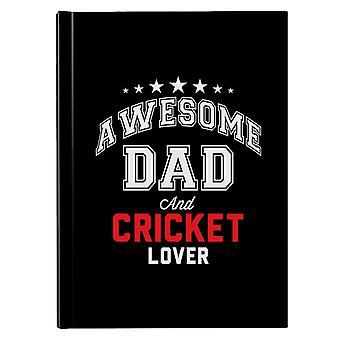Awesome Pappa Og Cricket Lover Hardback Journal