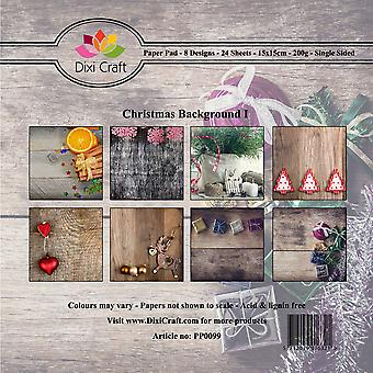 Dixi Craft Kerst Achtergrond 1 6x6 Inch Paper Pack