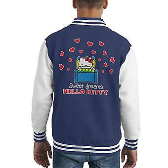 Hallo Kitty Liebe Herz süße Träume Kid's Varsity Jacke