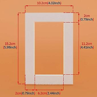Photo Mats Rectangle/oval Paper Mounts 6pcs Unique Textured Surface For 6/7/8 Inch Picture Frames