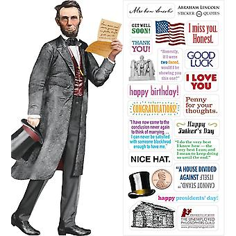 Stationery - Lincoln - Card and Sticker Sheet New 0966