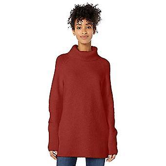 Marque - Goodthreads Women's Boucle Turtleneck Sweater, Rust Heather, M...