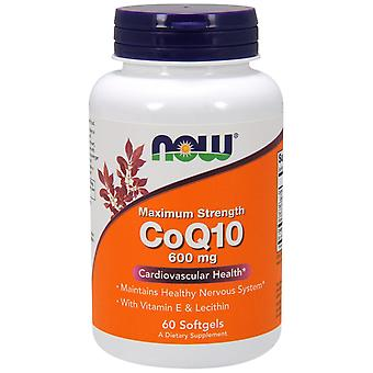 Jetzt Lebensmittel, CoQ10, 600 mg, 60 Softgels