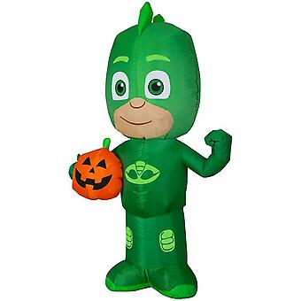 Airblown Animated Gekko Jack O Lantern Yard Halloween Decoration