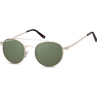 Sunglasses Unisex By SBG Aviator Gold (S91E)