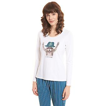 Rösch be happy! 1202140-11710 Women's White Pyjama Top