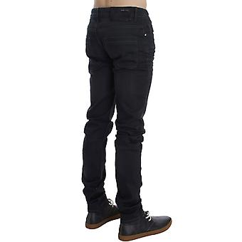 ACHT Gray Cotton Stretch Slim Fit Jeans SIG30454-1