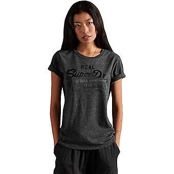Superdry Vintage Logo Tonal Satin T-Shirt Black 72