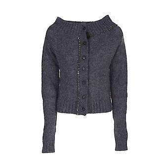 N°21 A03072688965grey Women's Grey Wool Cardigan