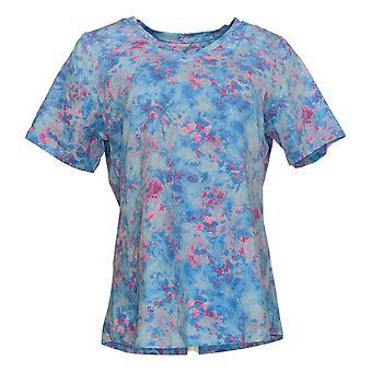 Denim & Co. Women's Top Perfect Jersey Short-Sleeve Blue A375536