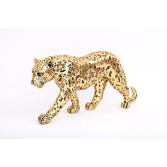 41,5 cm groot gouden luipaard glittereffect ornament