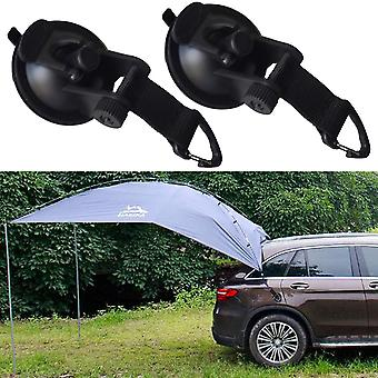 Heavy Duty Suction Cup Anchor With Securing Hook Tie Down Camping Tarp Accessory