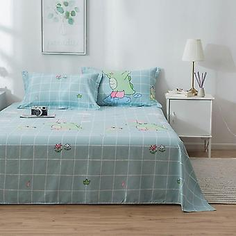 Printing Cotton Bed Sheet, Multi Sizes Mattress Bedding Coverlet, Soft