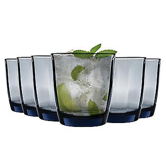 Bormioli Rocco Pulsar Ridged Tumbler Glasses Set - 300ml - Blue - Pack of 6