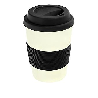 Rink Drink Bamboo Reusable Coffee Cup with Silicone Lid & Sleeve - 350ml - Black