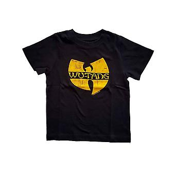 Wu Tang Clan Toddler T Shirt Logo new Official Black 12 months to 5 yrs