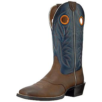 Ariat Mens Sport Outrider Cuir Fermé Orteil Mid-Calf Bottes occidentales