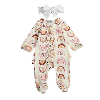 Baby Spring Autumn Clothing, Long Sleeve, Footies Rainbow Printed