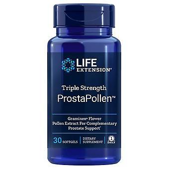 Life Extension Triple Strength ProstaPollen, 30 Soft Gels