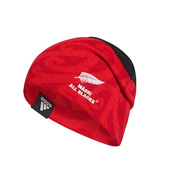 adidas Maori All Blacks Rugby Supporter Fan Beanie Hat Black/Red