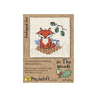 Ferdinand Fox In the Woods Mini Counted Cross Stitch Kit