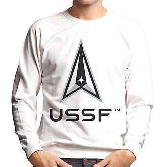 U.S. Space Force Lighter Logo USSF Dark Text Men's Sweatshirt