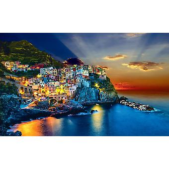 Sunset over Manarola