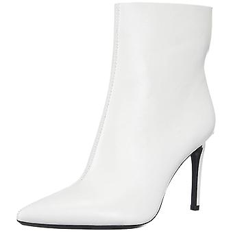 Calvin Klein Womens Revel Leather Pointed Toe Ankle Fashion Boots
