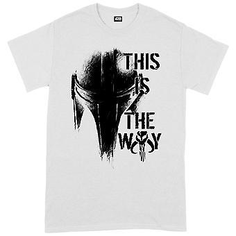 Star Wars The Mandalorian The Way Mando Helm  Official T-Shirt Unisex