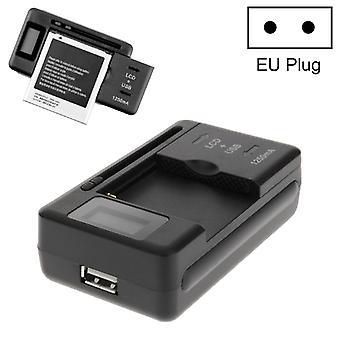 מחוון LCD חכם להציג יציאת USB מטען סוללות אוניברסלי, האיחוד האירופי תקע