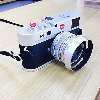Non-Working Fake Dummy DSLR Camera Model Photo Studio Props for Leica M, Hood Lens(Silver)