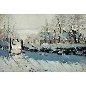 The Magpie Poster Print by  Claude Monet