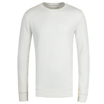 True Religion Crew Neck Off White Sweatshirt