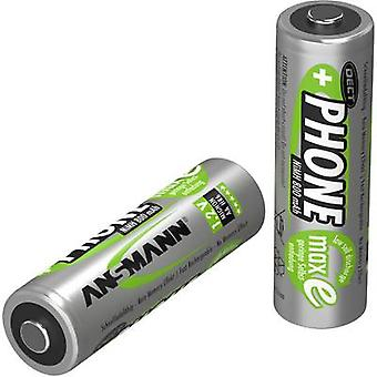 Ansmann DECT maxE HR06 AA battery (rechargeable) NiMH 800 mAh 1.2 V 2 pc(s)