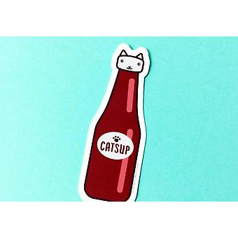 Catsup القط ملصق الفينيل