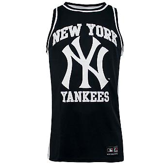 Majestic New York Yankees Navy Blue Rinco Mesh Singlet Sleeveless Vest Top R10K