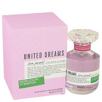 Yhdistyneet unelmat rakastavat itseäsi eau de toilette spray by benetton 535359 80 ml