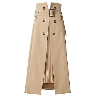 High Waist Bandage Asymmetrical Pleated Temperament Half-body Skirt