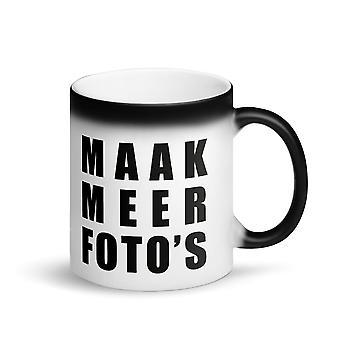 Make more photo's - Matt black magic mug